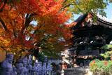革堂 七福神像と紅葉