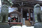 鎌倉 雪降る虚空蔵堂