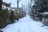 鎌倉坂ノ下 雪景色の線路