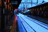 鎌倉 雪化粧の長谷駅