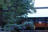 宗忠神社 淡雪の拝殿
