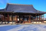 本願寺西山別院 淡雪の本堂