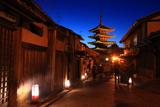 八坂上町からの宵の八坂の塔