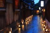 石塀小路の京銘竹行灯