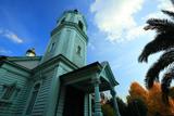 京都ハリストス正教会 生神女福音聖堂と公孫樹黄葉