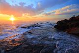 江の島 稚児ヶ淵の夕景