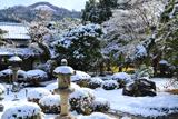 白沙村荘 雪見庭園と大文字山