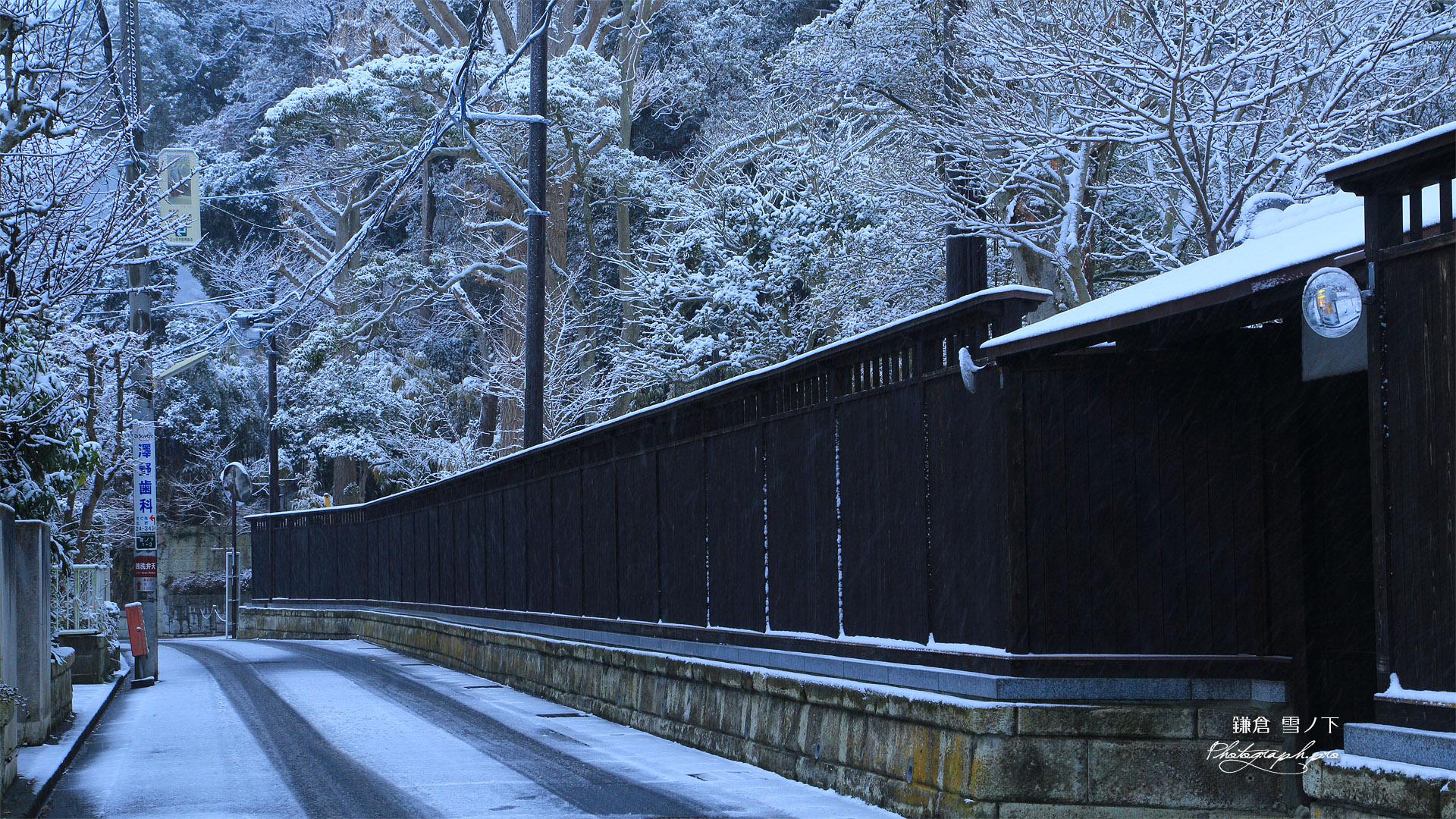 雪化粧の窟小路