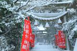 鎌倉八雲神社(大町) 雪景色の参道