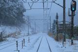 暴風雪の横須賀線