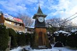 残雪の鎌倉駅西口広場