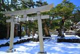 八坂大神の雪景色