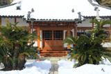 薬王寺 雪景色の本堂
