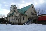残雪の鎌倉教会