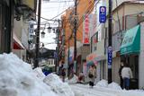 ドカ雪の御成商店街