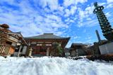 鎌倉 残雪の妙長寺