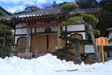 来迎寺 残雪と本堂