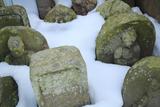 鎌倉九品寺 雪埋の石仏