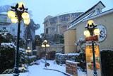 雪降る江の島温泉