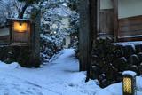 江の島 岩本楼の雪景色