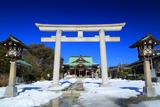 龍口明神社 日本晴れの浄域
