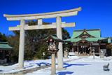 龍口明神社の雪景色