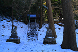 鎌倉手広 雪景色の熊野神社