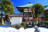 泉光院 六地蔵と雪景色