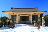 泉光院 残雪と本堂