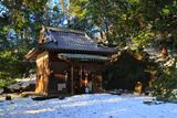 鎌倉 雪景色の諏訪神社