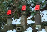 黙仙寺 地蔵三尊と残雪