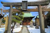 残雪の洲崎神社