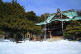 横浜 上行寺の雪景色