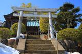 鎌倉台下町 残雪の神明神社