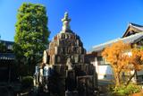 天寧寺 無縁塔と黄葉