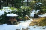 岩倉具視幽棲旧宅 斑雪の庭