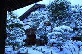聚光院 庫裡の雪景色