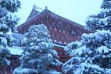 大徳寺 雪降る三門