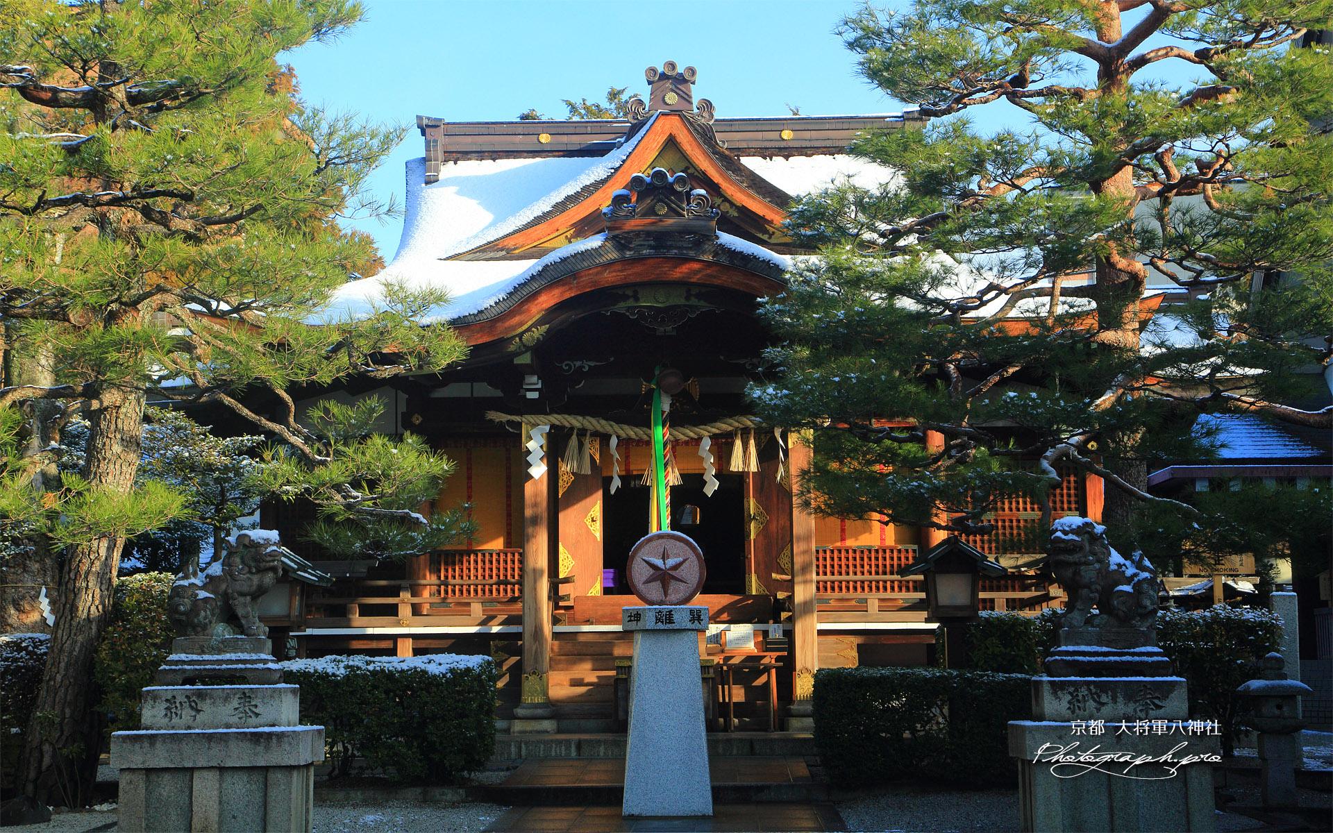 大将軍八神社 淡雪の拝殿